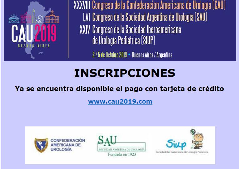 CAU 2019 Inscripciones con Tarjeta