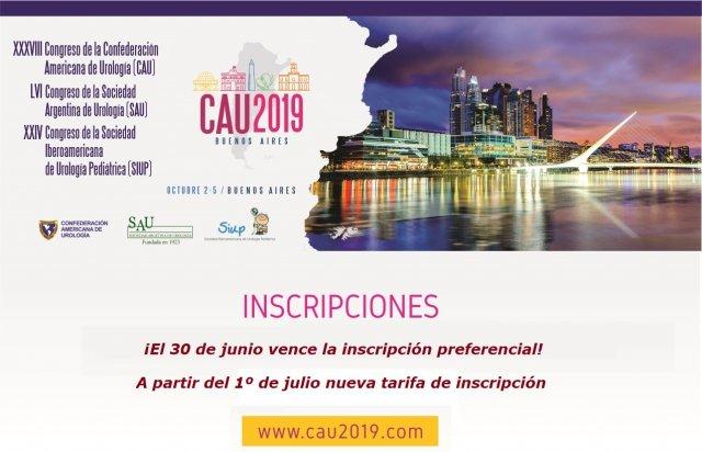 CAU 2019 Newsletter Inscripciones Vencimiento 30_6