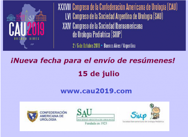Prórroga envío de resúmenes CAU 2019