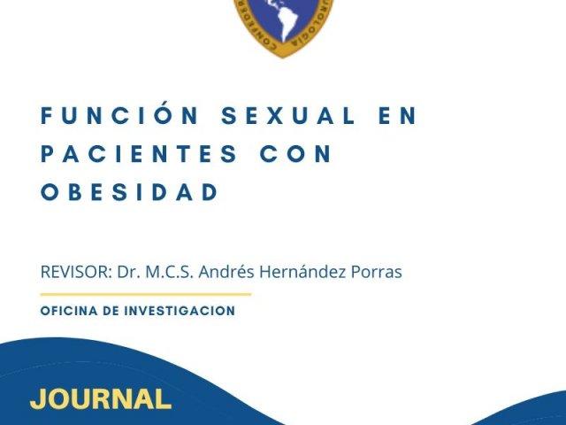 función sexual en pacientes con obesidad